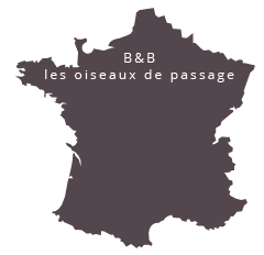 localisation chambre d'hôtes les oiseaux de passage en Normandie